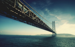 Blue bridge wallpapers and stock photos