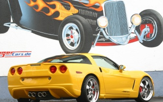Yellow Corvette wallpapers and stock photos