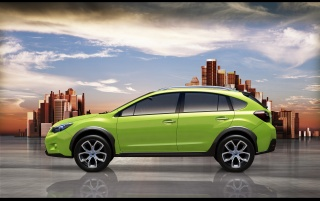 Subaru XV side view wallpapers and stock photos
