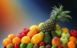 Bunte Obst-Mix wallpapers and stock photos