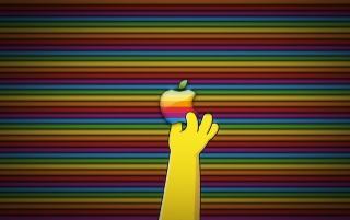 Reaching for Apple wallpapers and stock photos