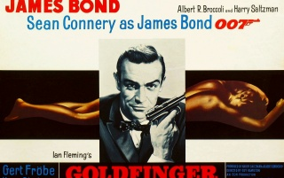 James Bond in Goldfinger wallpapers and stock photos