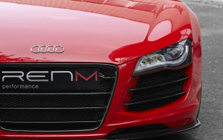 Red Audi R8 V10 headlight wallpapers and stock photos