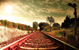 Railway tracks wallpapers and stock photos