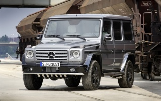 Silver G class front wallpapers and stock photos