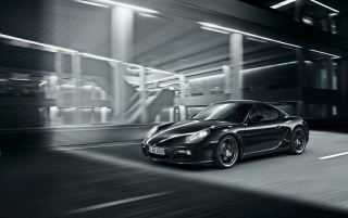 Black Cayman front angle wallpapers and stock photos