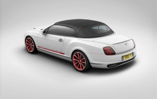 White Bentley hinteren Winkel wallpapers and stock photos