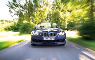 Alpina B5 front view wallpapers and stock photos