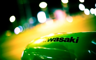 Kawasaki badge wallpapers and stock photos