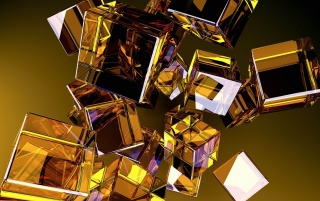 Random: 3D Glass Cubes
