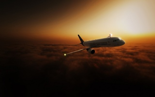 Airliner in the sky wallpapers and stock photos