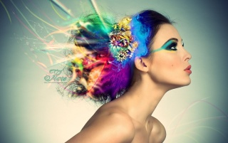 Model with colorful hair wallpapers and stock photos