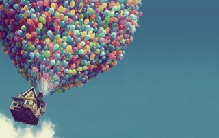 House with balloons wallpapers and stock photos