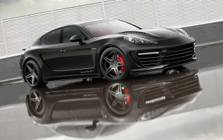Panamera Stingray front angle wallpapers and stock photos