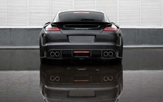 Panamera GTR rear view wallpapers and stock photos