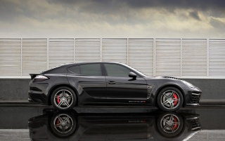 Panamera GTR side view wallpapers and stock photos