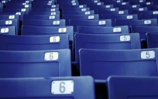 Blue seats wallpapers and stock photos