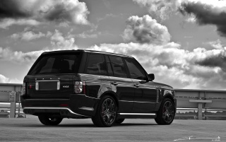 Range Rover rear wallpapers and stock photos