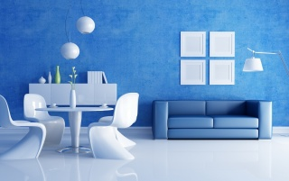 White & Blue Interior wallpapers and stock photos