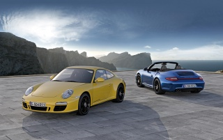 Porsche Duo wallpapers and stock photos
