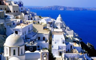 Santorini - Greece wallpapers and stock photos