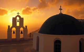 Church - Greece wallpapers and stock photos