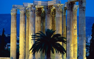 Temple of Olympian Zeus - Athens, Greece wallpapers and stock photos