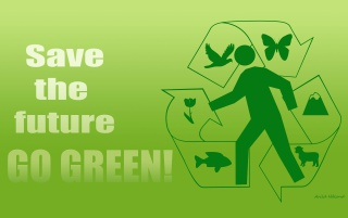 Save the future - GO GREEN! wallpapers and stock photos