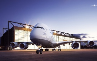 Airbus A380 wallpapers and stock photos