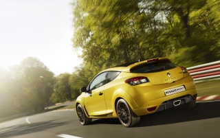 Renault Megane RS Trophy rear spead wallpapers and stock photos