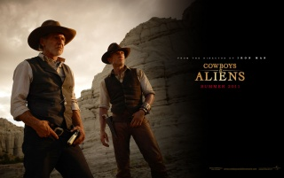 Cowboys and Aliens Duo wallpapers and stock photos