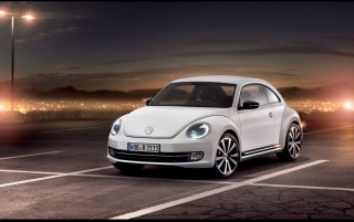 White 2012 Volkswagen Beetle wallpapers and stock photos