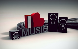 I Love Music wallpapers and stock photos