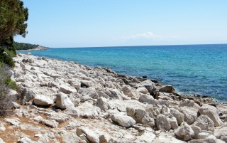 Thassos Shoreline wallpapers and stock photos