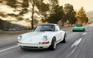 Singer Porsche 911 Duo Woods wallpapers and stock photos