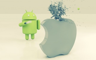 Apple vs Android wallpapers and stock photos