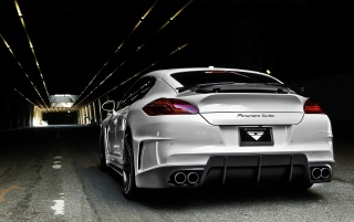 Vorsteiner Porsche V PT Panamera Rear Angle wallpapers and stock photos
