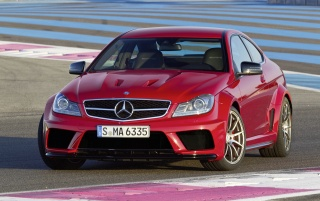 Mercedes C 63 AMG Coupe Black Series Front Angle wallpapers and stock photos