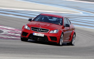 Mercedes C 63 AMG Coupe Black Series Track wallpapers and stock photos
