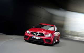 Mercedes C 63 AMG Coupe Black Series Focus wallpapers and stock photos