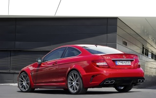 Random: Mercedes C 63 AMG Coupe Black Series Rear and Side