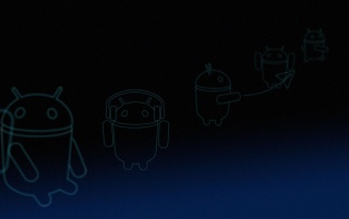 Android 3.0 Honeycomb Blue Linebots wallpapers and stock photos