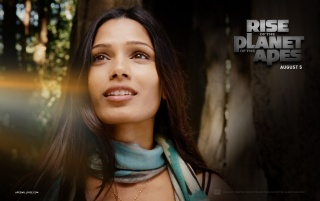 Rise of the Planet of the Apes: Freida Pinto wallpapers and stock photos