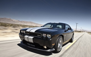 Dodge Challenger SRT8 392 Closeup Speed wallpapers and stock photos