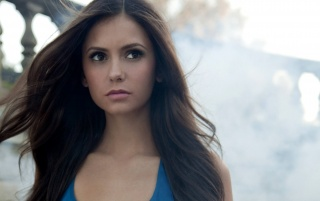 Nina Dobrev Flowing Hair wallpapers and stock photos