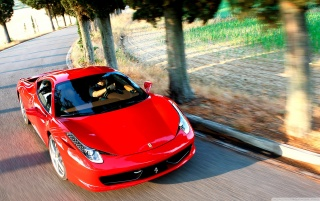 Ferrari 458 countryside wallpapers and stock photos