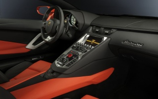 Lamborghini Aventador LP 700-4 Dashboard Angle wallpapers and stock photos