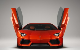 Lamborghini Aventador LP 700-4 Front Open Doors wallpapers and stock photos