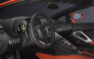 Lamborghini Aventador LP 700-4 Steering Wheel wallpapers and stock photos