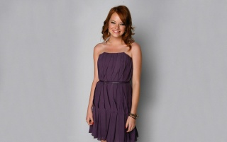 Emma Stone Purple Dress wallpapers and stock photos